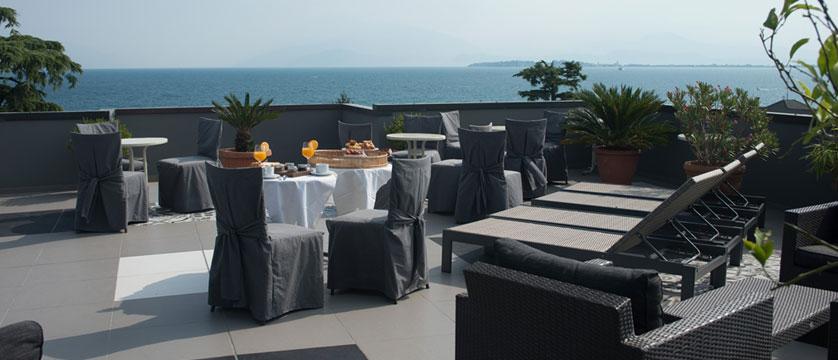 Piccola Vela Hotel, Desenzano, Lake Garda, Italy - Beautiful views from the elegant rooftop terrace.jpg